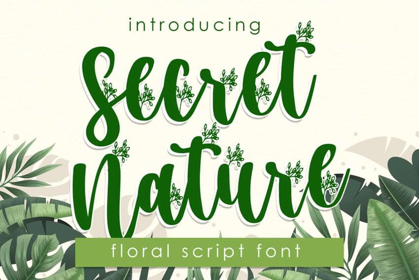 Secret Nature Floral Font