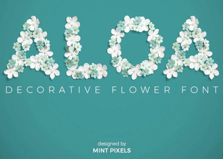 Aloa Flower Font
