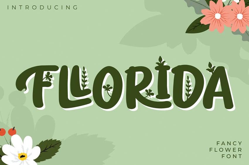 Fllorida Fancy Flower Font
