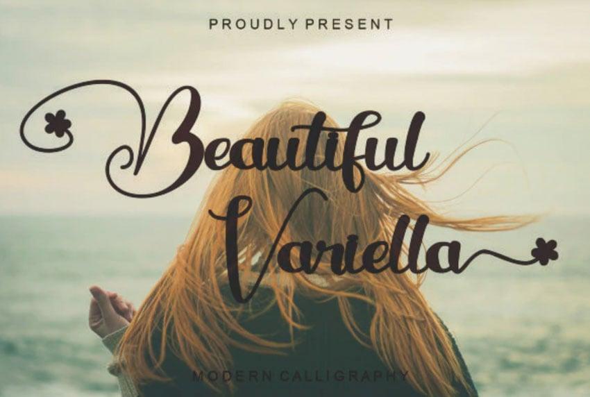 Beautiful Variella Modern Calligraphy Font