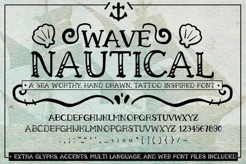 nautical font