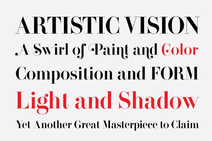 didone serif font