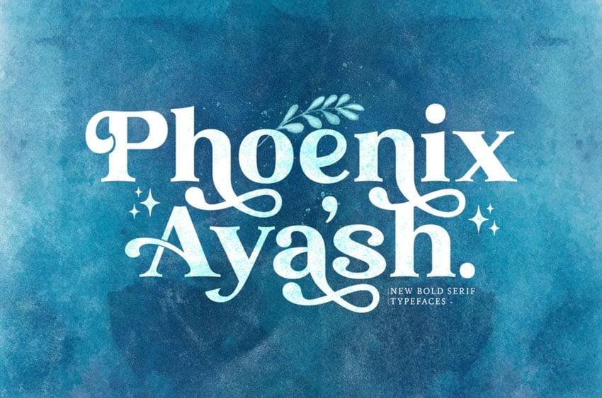 Phoenix Ayash Bold Serif Font