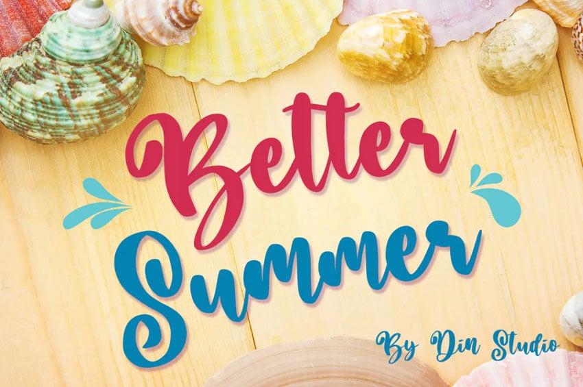 Better Summer Script Font