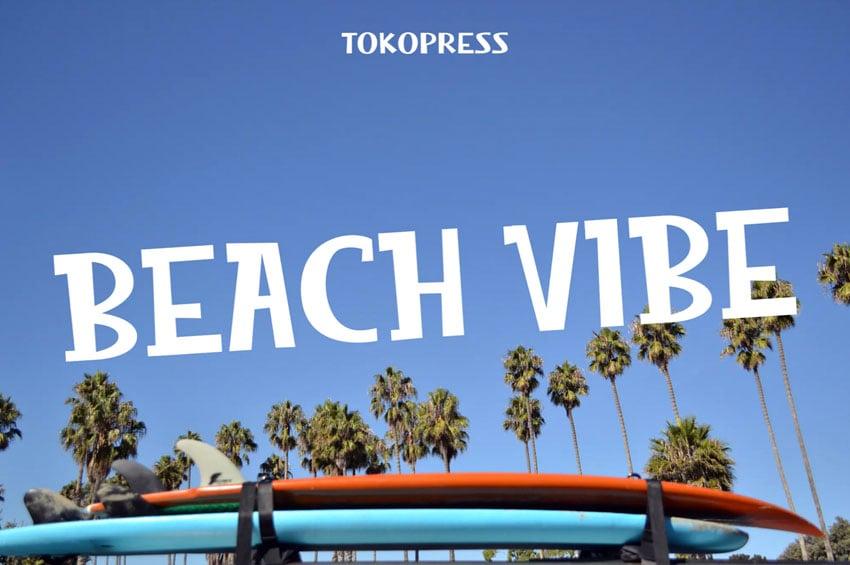 Beach Vibe Summer Font