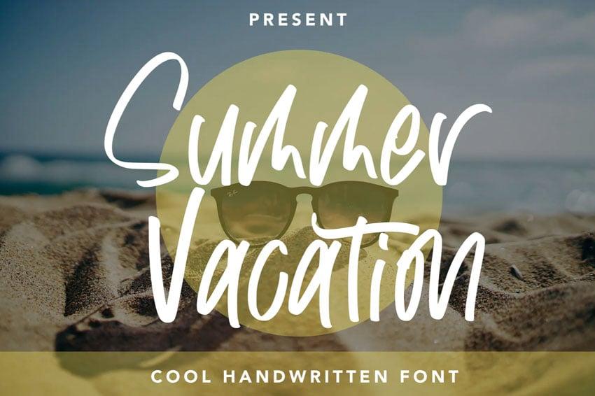 Summer Vacation Cool Handwritten Font