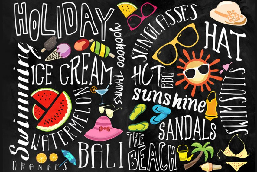 Summer Font Pack Collection