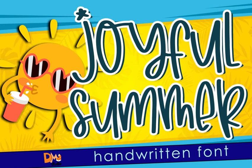 Joyfull Summer Handwritten Font