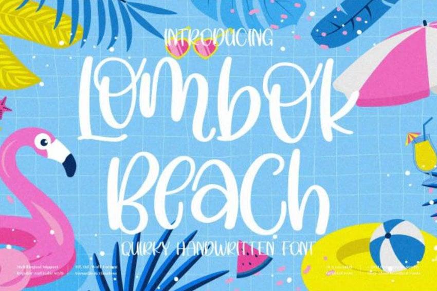 Lombok Beach Summer Font