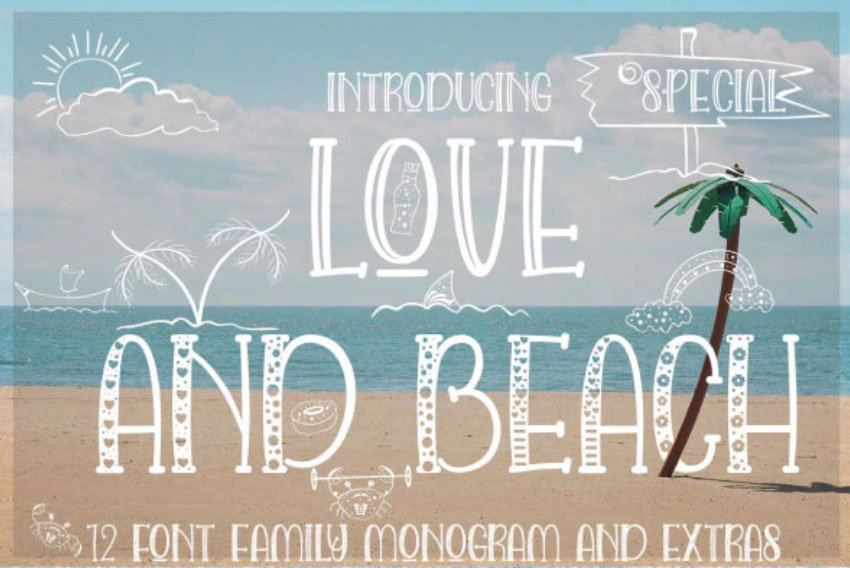 Love and Beach Summer Font