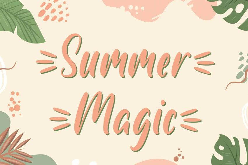Summer Magic Handwritten Font