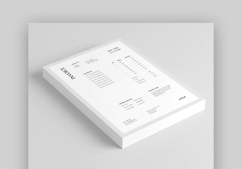 invoice microsoft word