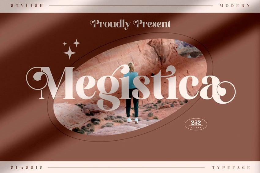 Megistica Modern Serif Font