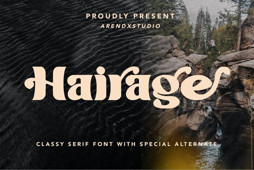 Hairage Classy Serif Font