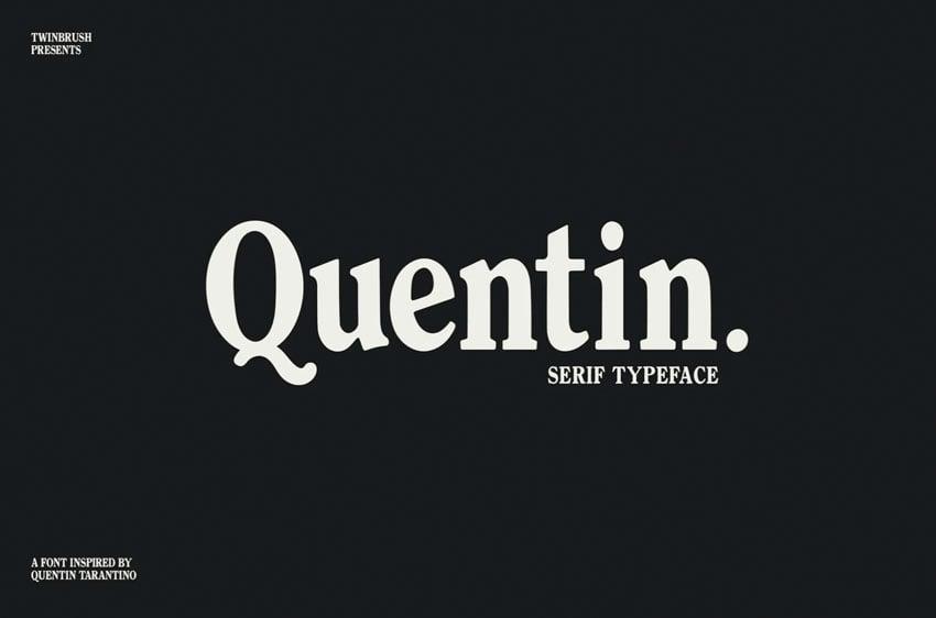 Quentin Serif Font
