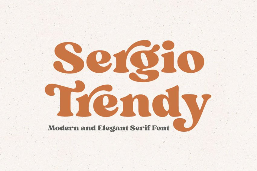 Sergio Trendy Serif Font