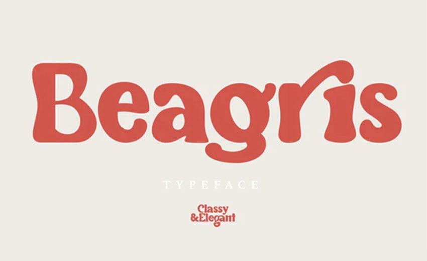 Beagris Rounded Typeface
