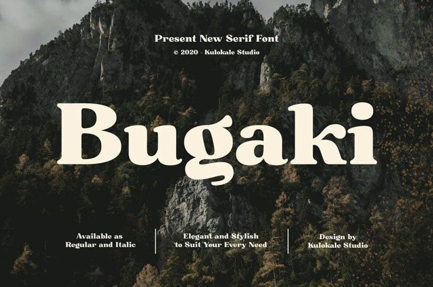 Bugaki Elegant Serif Font