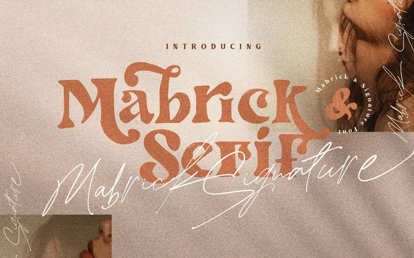 Mabrick Logotype Fashion Font