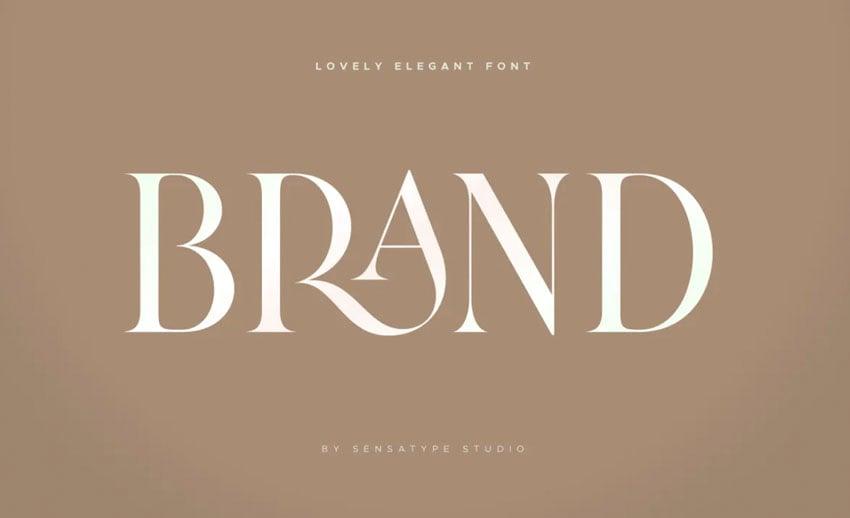 Brand Lovely Elegant Font