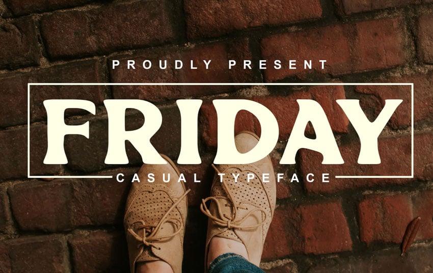 Friday Logo Font