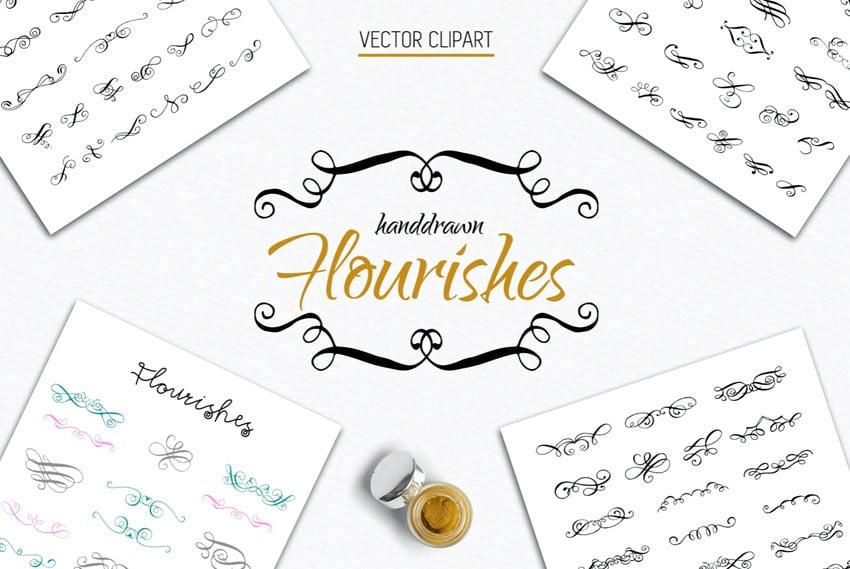 70 Calligraphic Flourishes Collection
