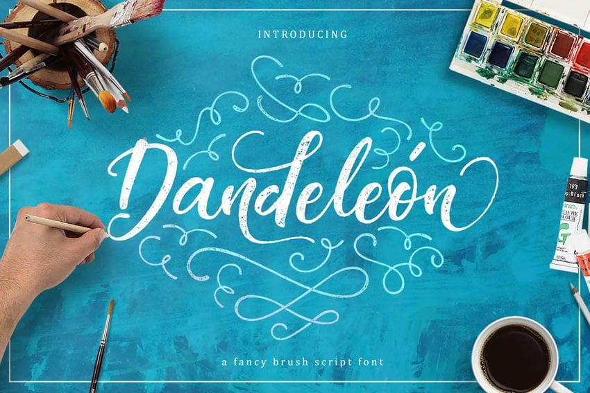 Dandeleón font + SWASHES