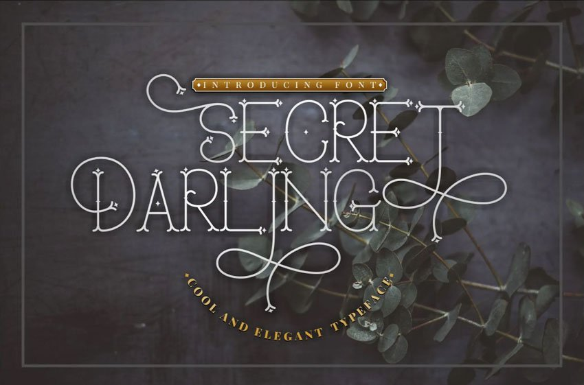 Secret Darling Classic Monoline Font