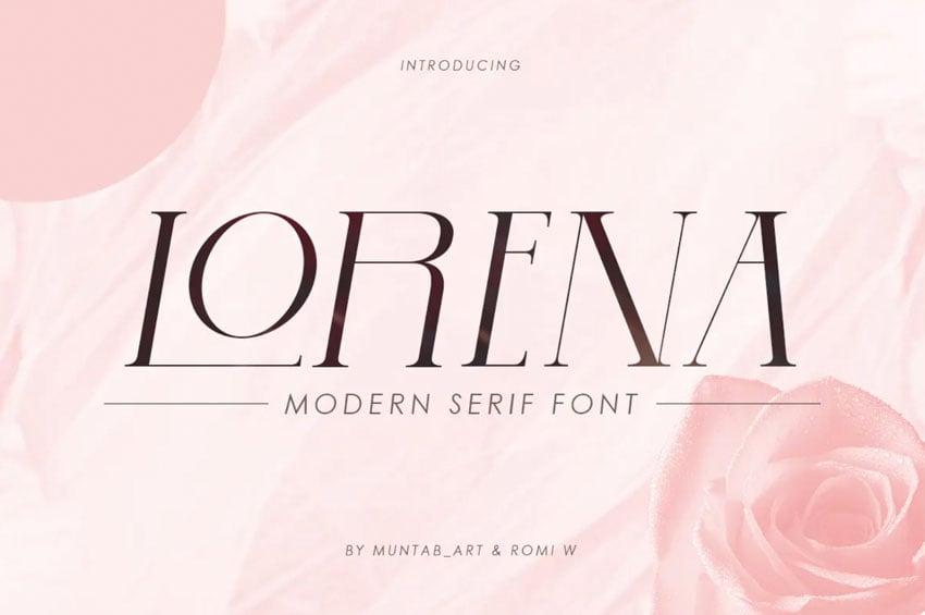Lorena Modern Serif Font