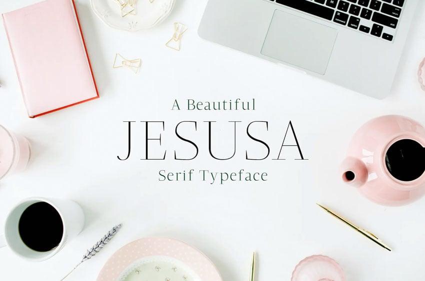 Jesusa Serif Font Family Pack