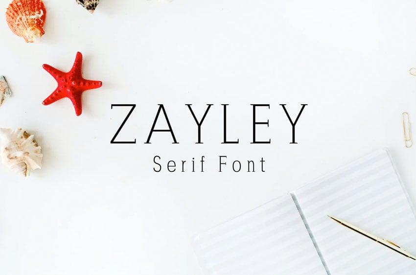 Zayley Serif Font