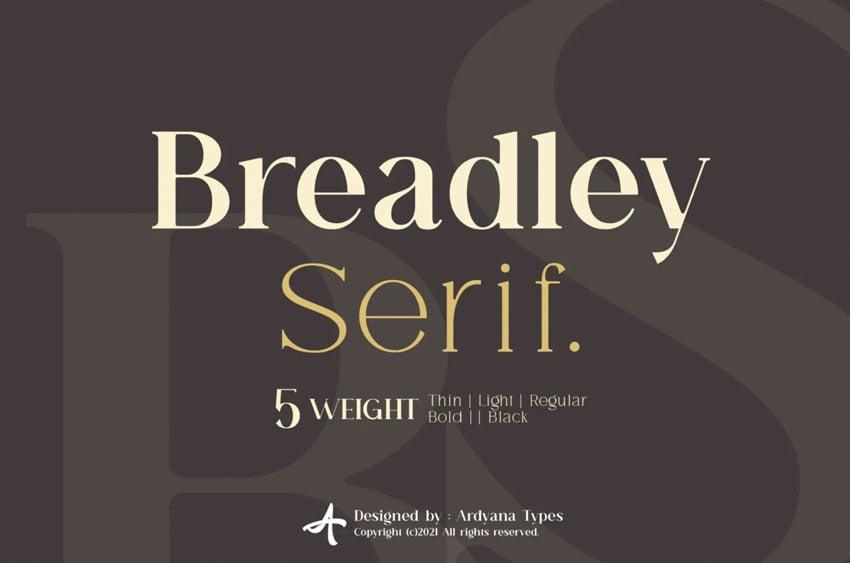 Breadley Serif Font