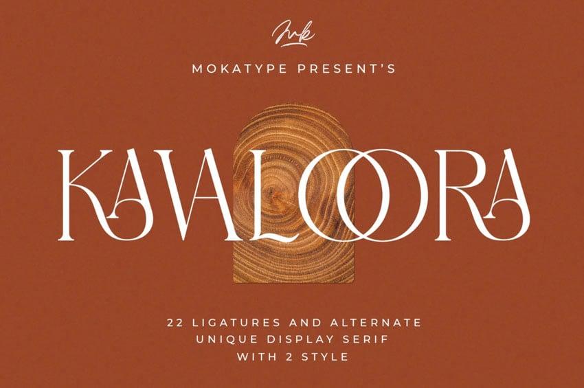 Kavaloora Serif Font with Stylish Ligatures