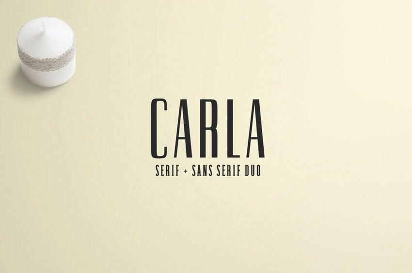 Carla Serif + Sans Serif Font Duo