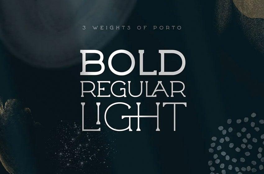 Porto Thin Serif Font