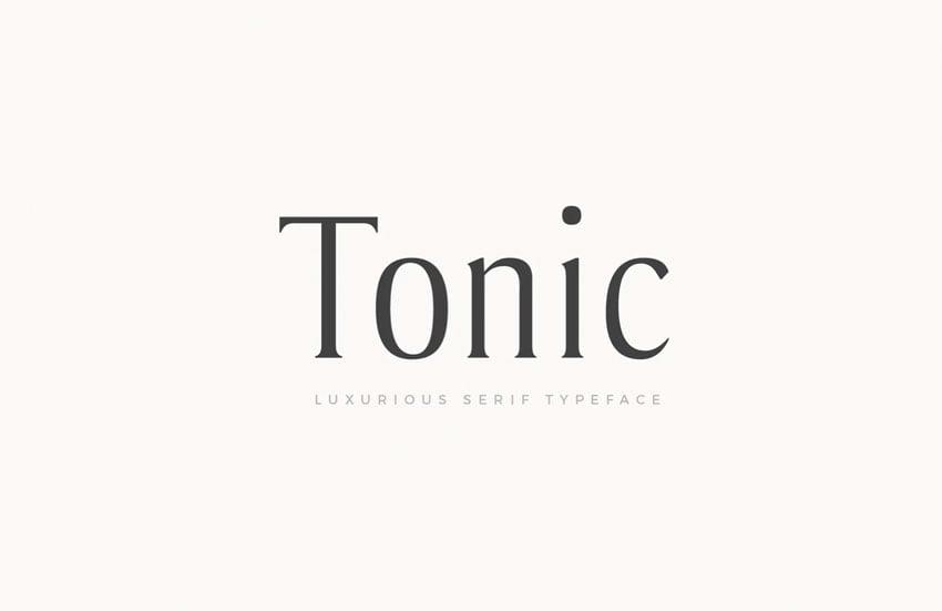 Tonic Luxurious Serif Typeface