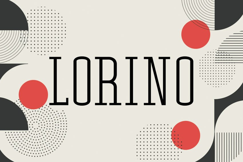 Lorino Thin Slab Serif Font