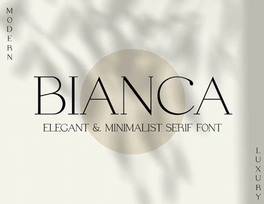 Bianca Thin Serif Font