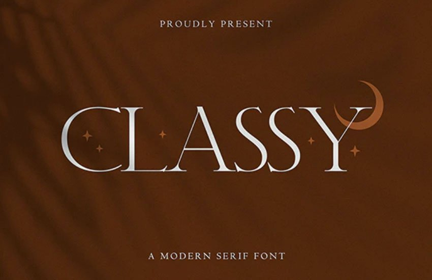 Classy Modern Serif Font
