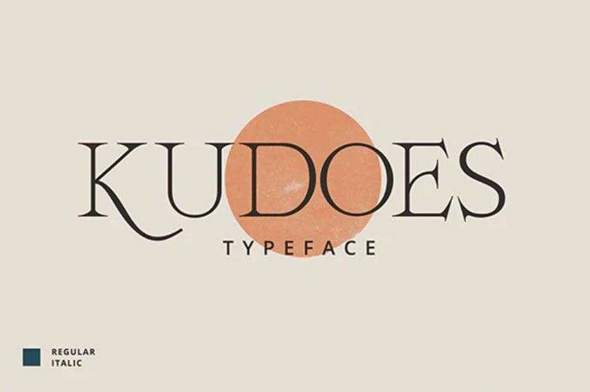 Kudoes Thin Typeface