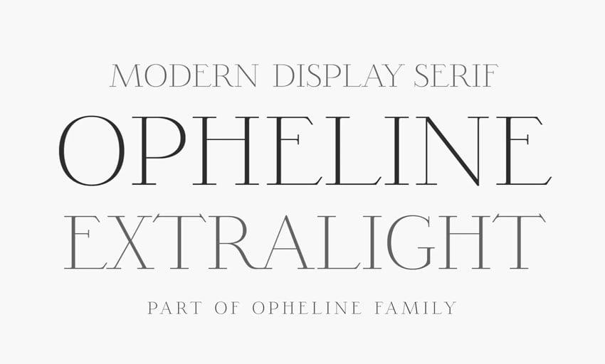 Opheline ExtraLight Serif Font
