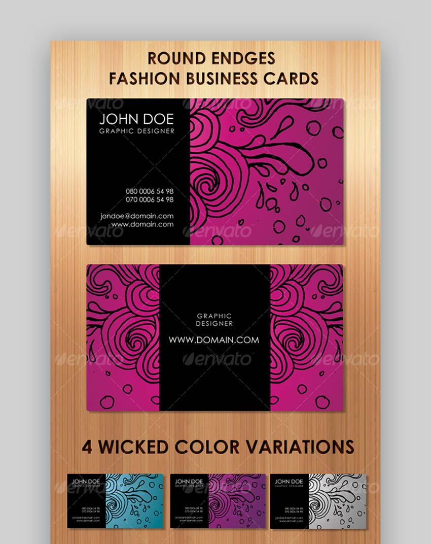 Stunning Fashion Business Cards in 4 Colors