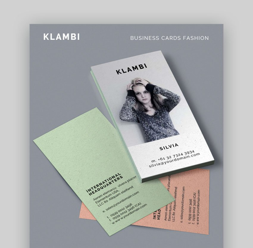 Klambi Fashion Business Cards