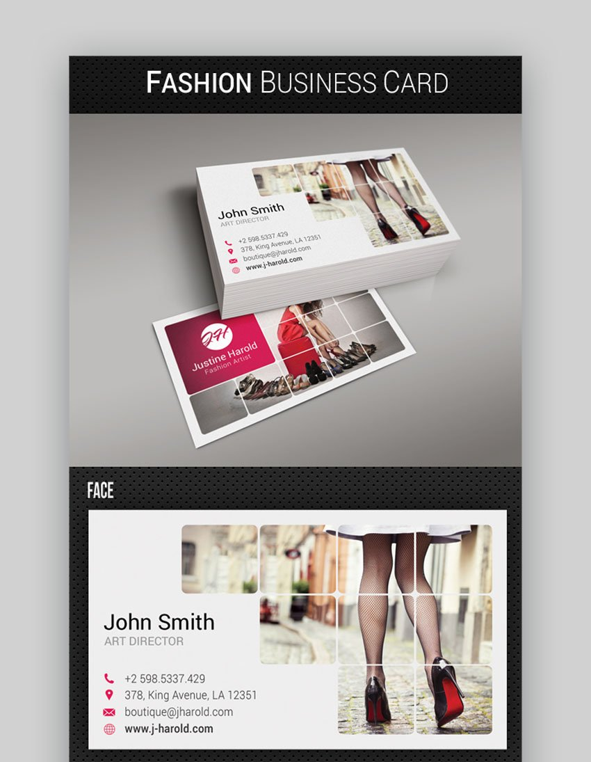 Fashion Industry Business Card