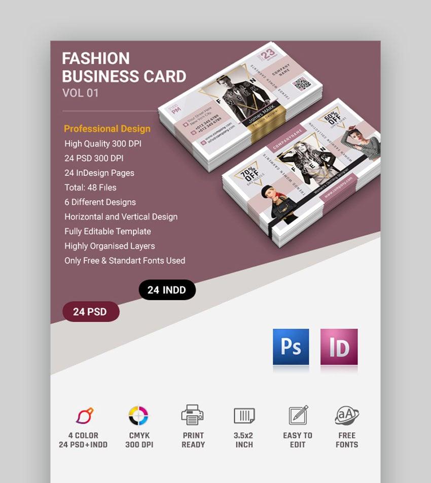 Fashion Clothing Line Fashion Business Card