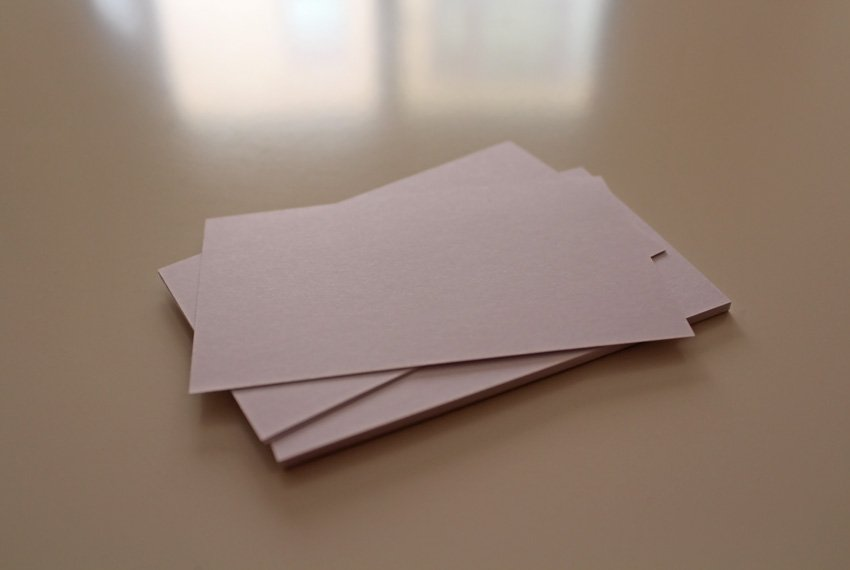 White Business Cards on clean clear table