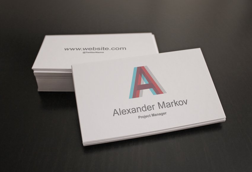Business Card Template mockup with custom design
