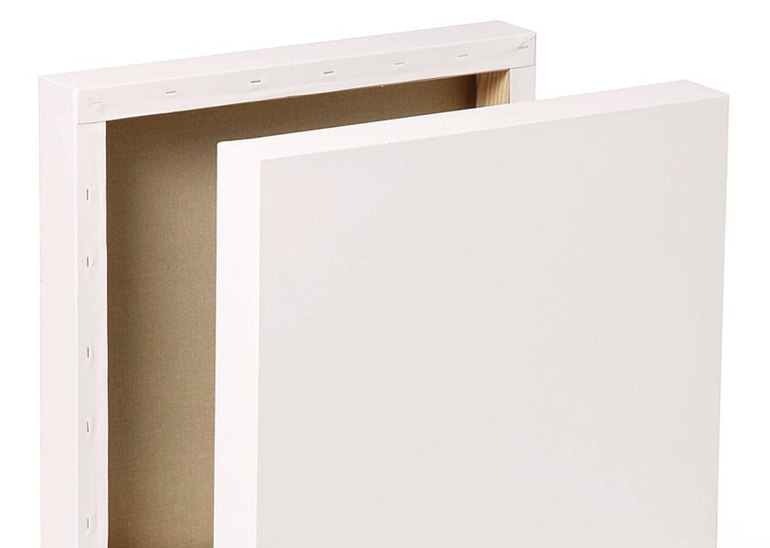 blank canvas used for realism painting