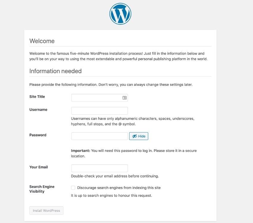 site details screen