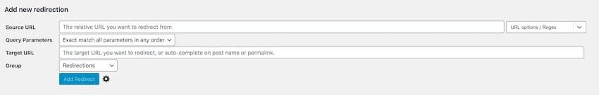 WordPress Redirect Tutorial add new redirect